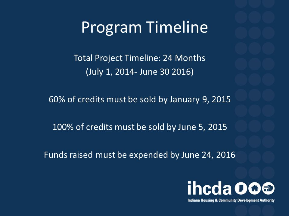 Program Timeline Total Project Timeline: 24 Months