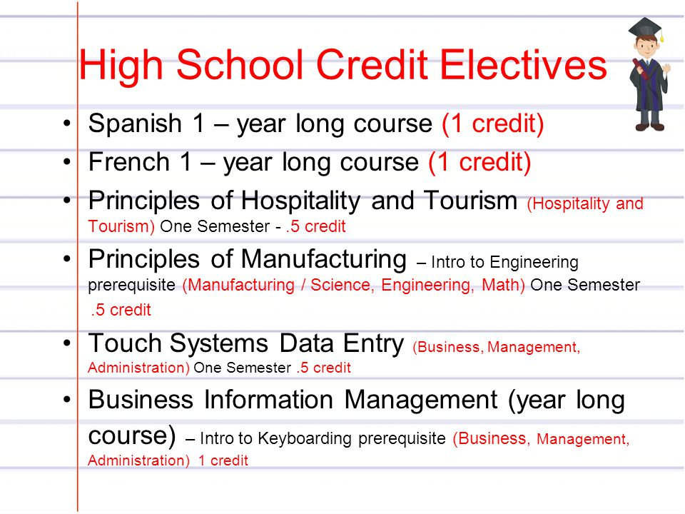 High School Credit Electives