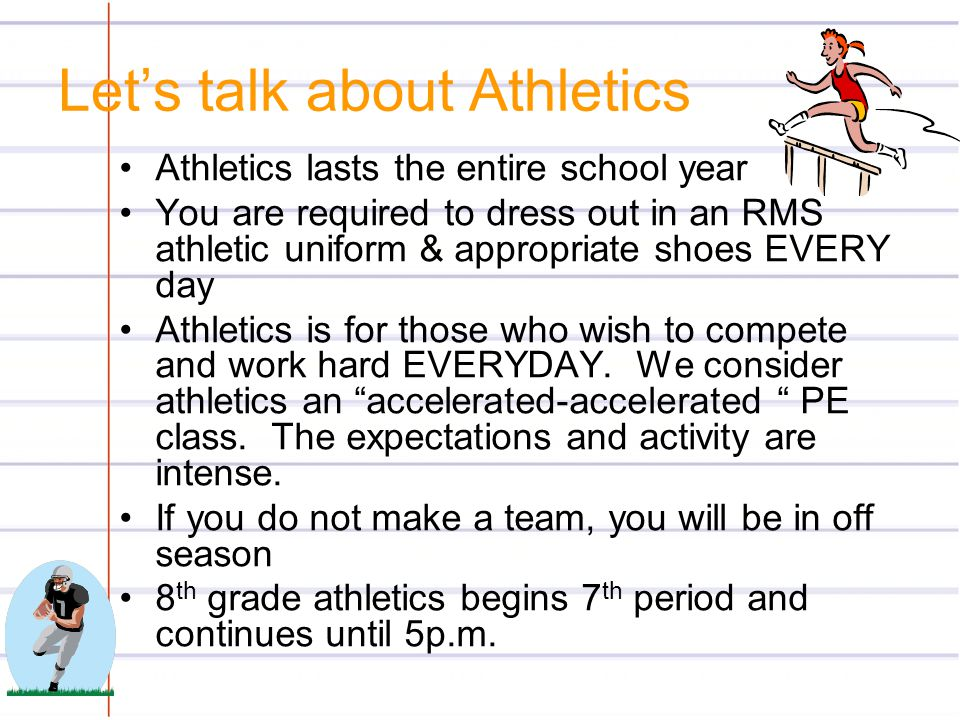 Let's talk about Athletics
