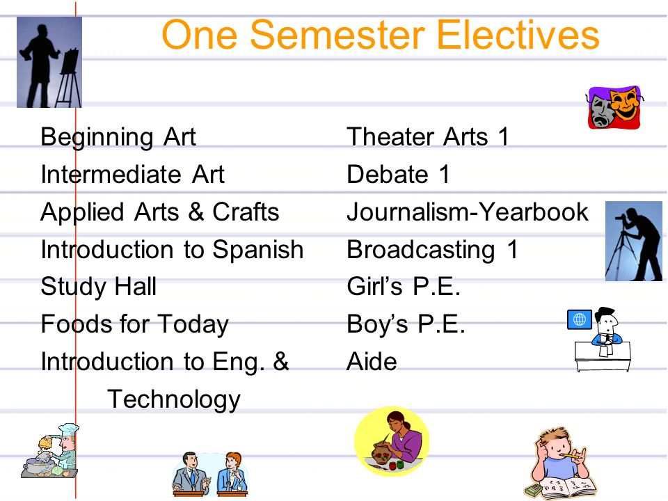 One Semester Electives