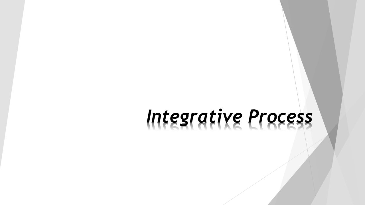 Integrative Process New credit category.