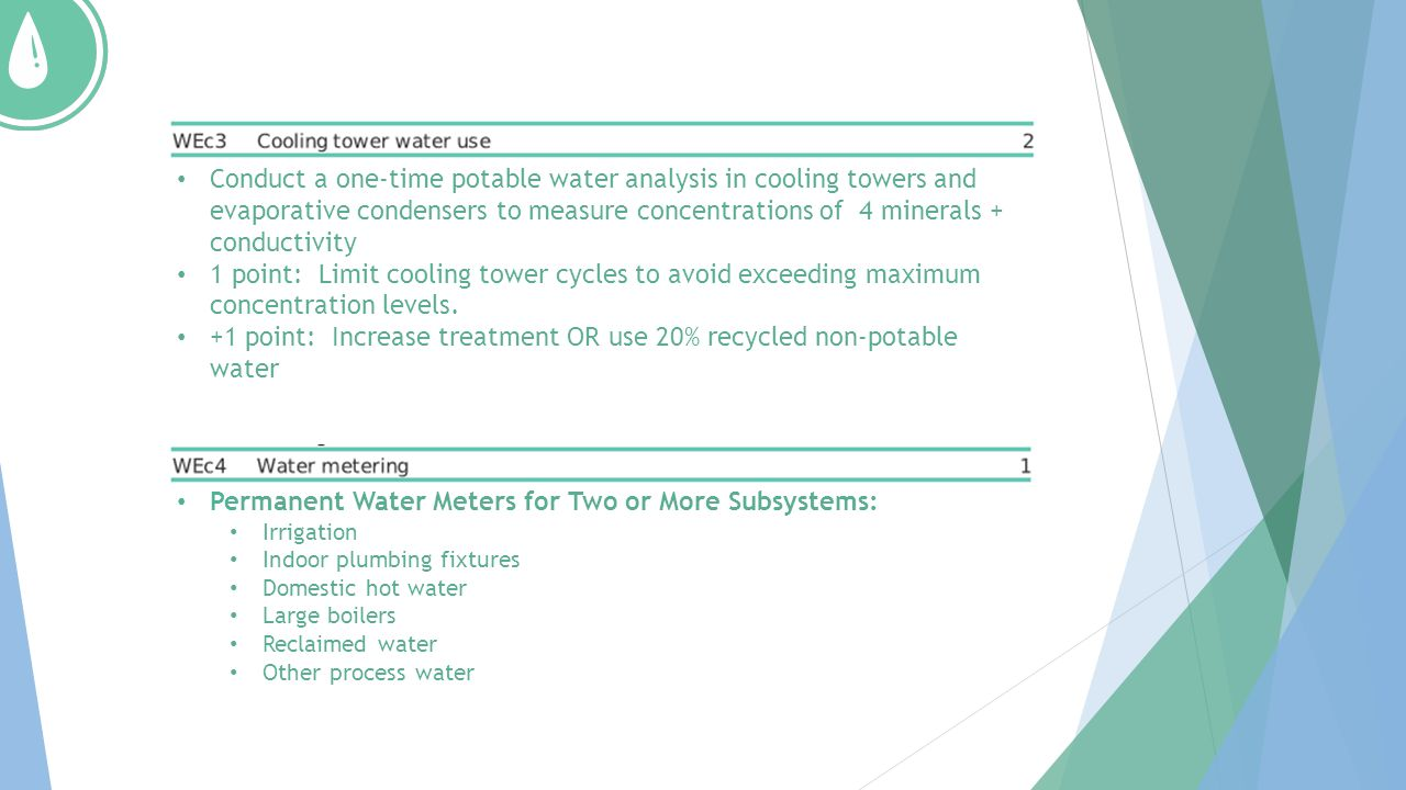 +1 point: Increase treatment OR use 20% recycled non-potable water