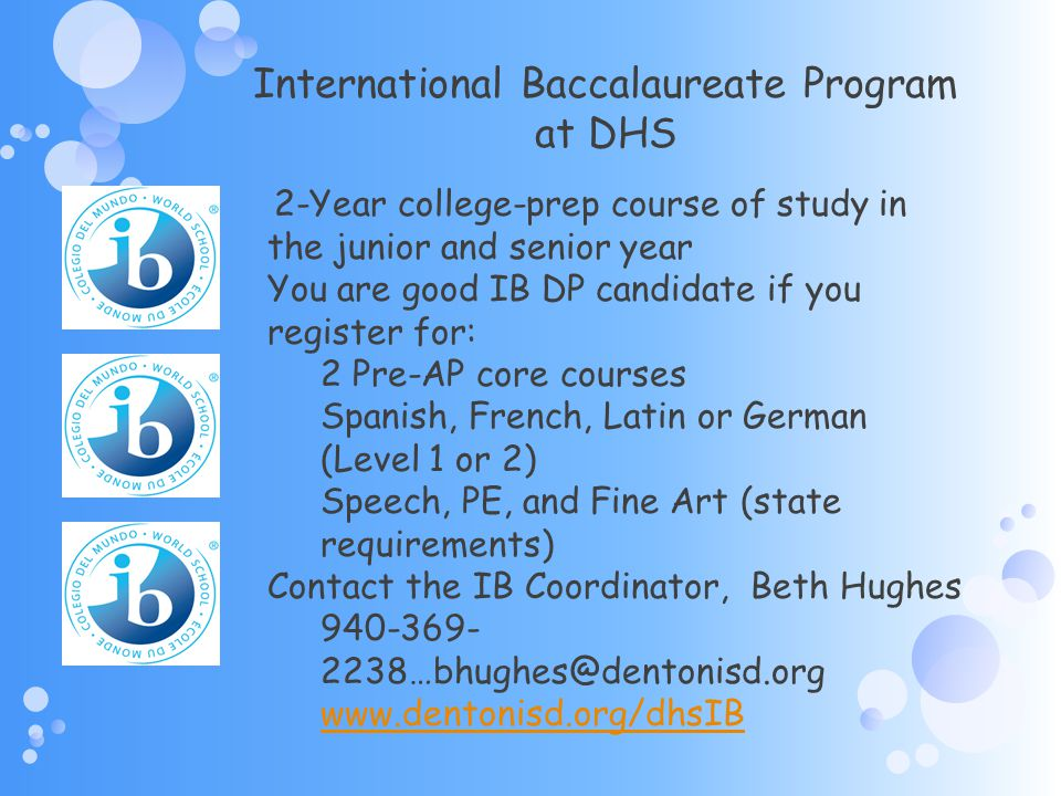 International Baccalaureate Program at DHS