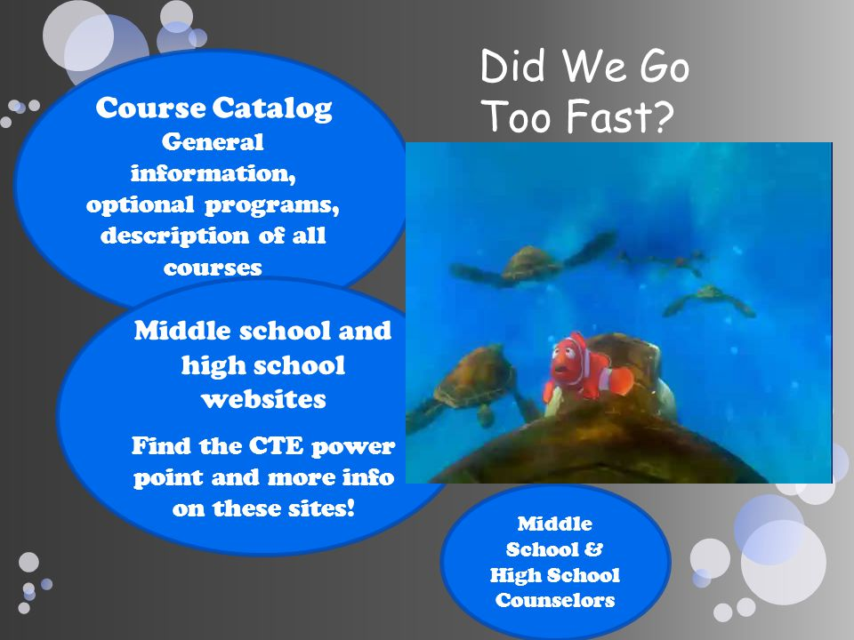 Did We Go Too Fast Course Catalog