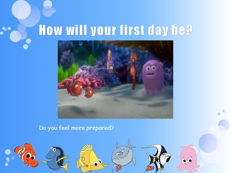 How will your first day be