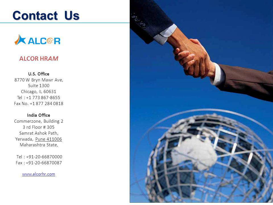 Contact Us ALCOR HRAM U.S. Office