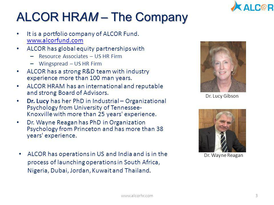 ALCOR HRAM – The Company