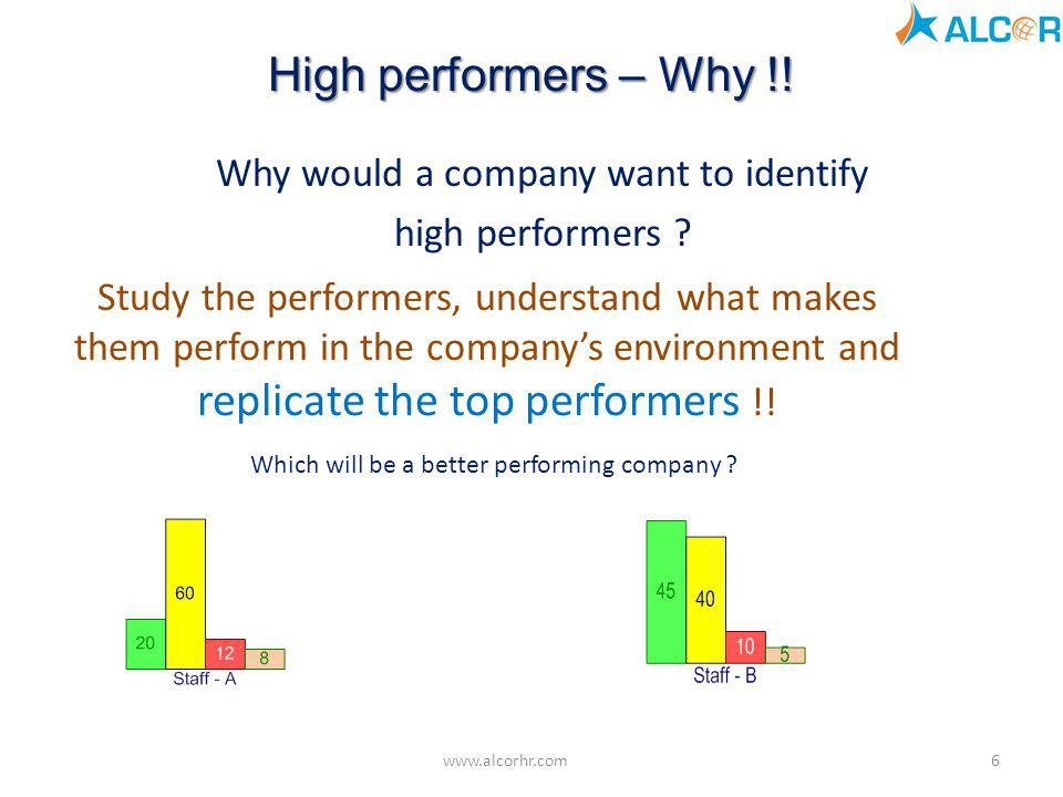 Why would a company want to identify high performers