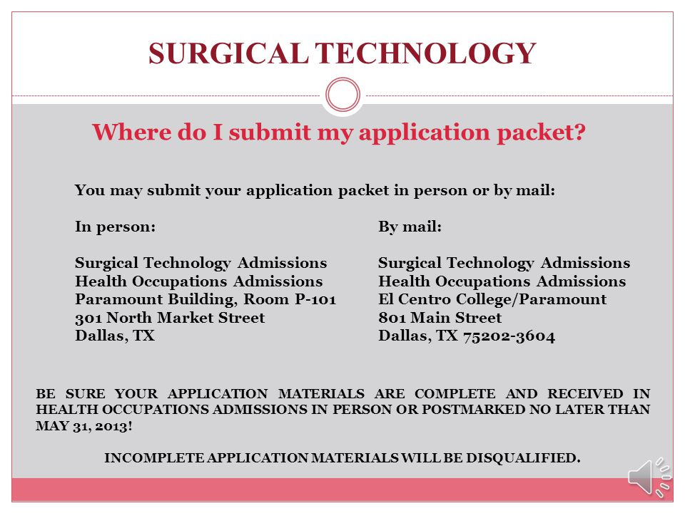 INCOMPLETE APPLICATION MATERIALS WILL BE DISQUALIFIED.