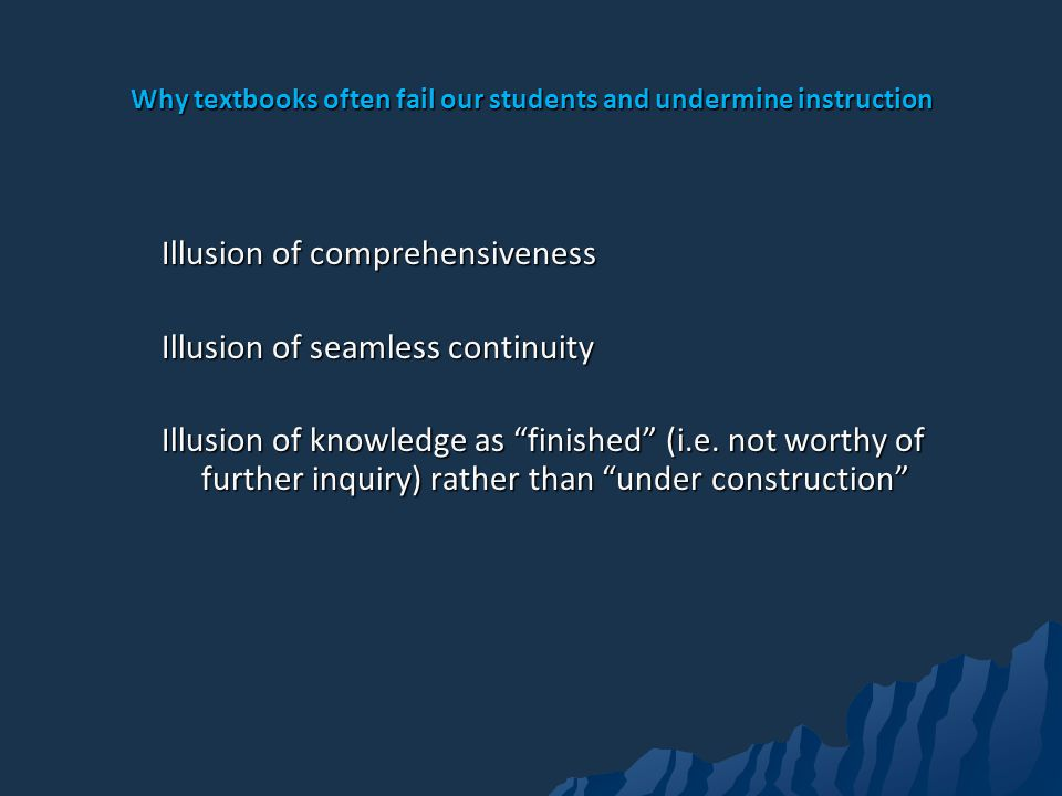 Why textbooks often fail our students and undermine instruction