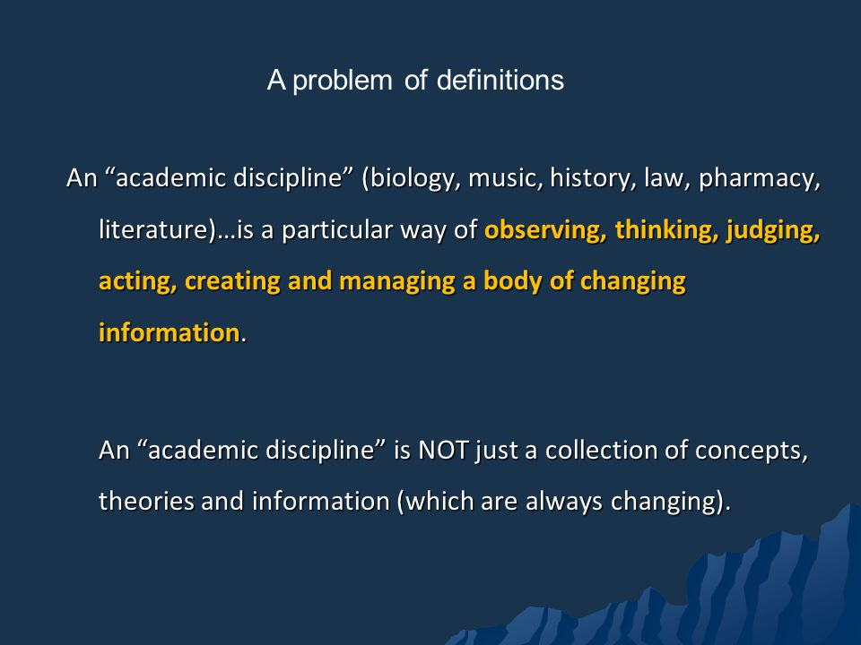 A problem of definitions