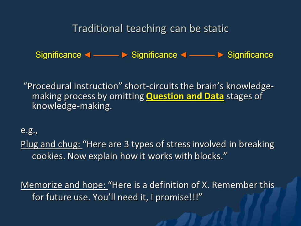 Traditional teaching can be static