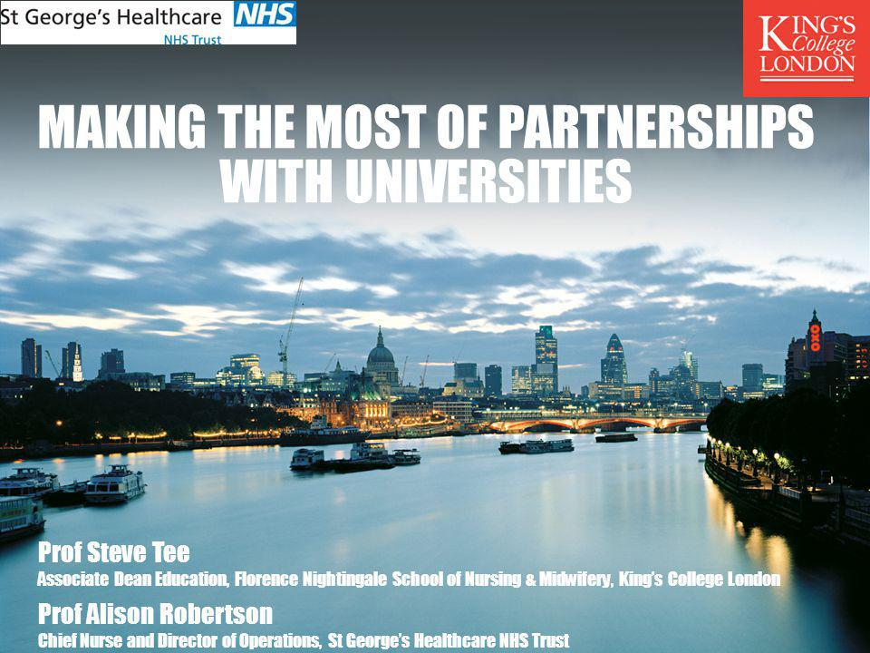 Making the most of partnerships with universities