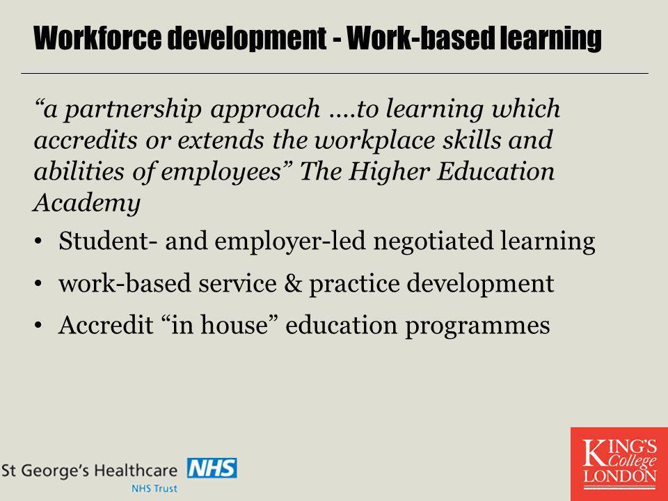 Workforce development - Work-based learning