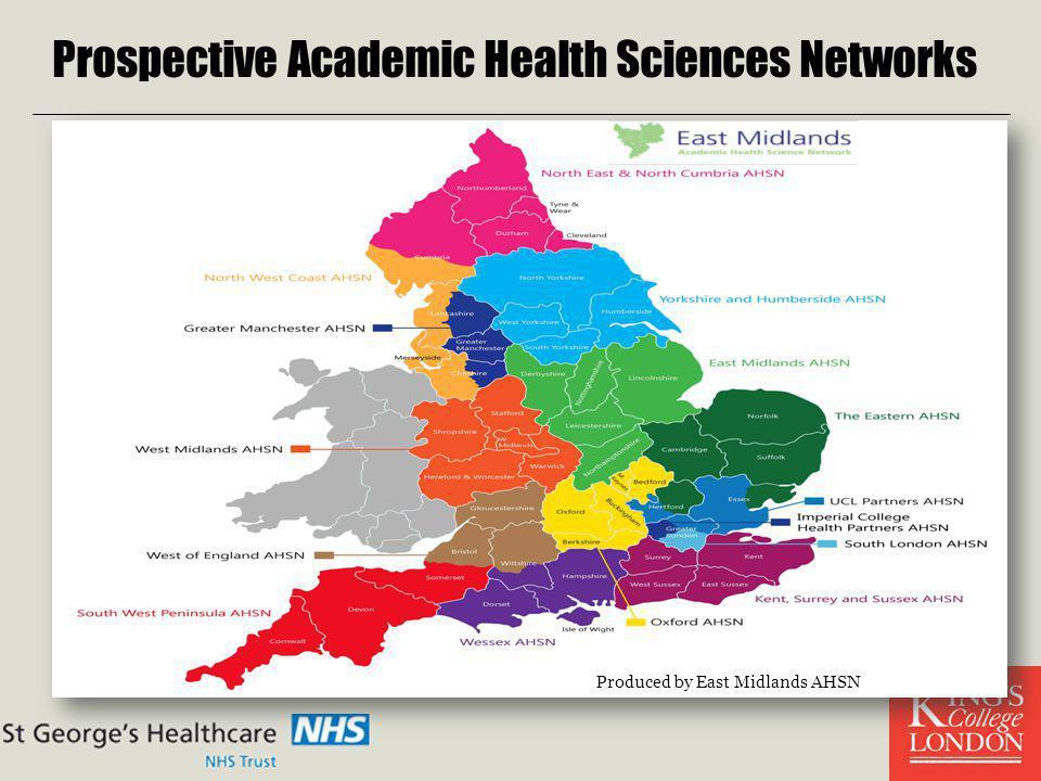 Prospective Academic Health Sciences Networks