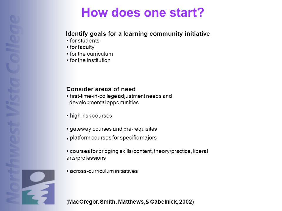 How does one start . platform courses for specific majors