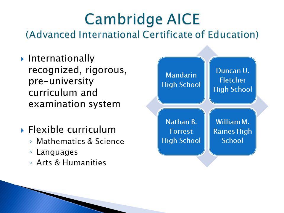 Cambridge AICE (Advanced International Certificate of Education)