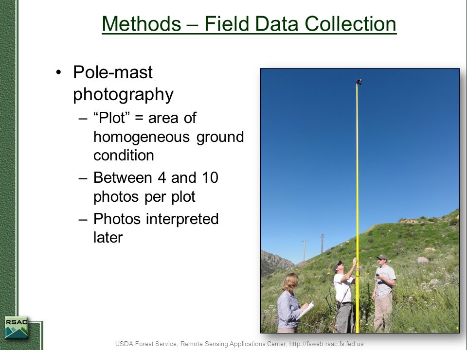 Methods – Field Data Collection