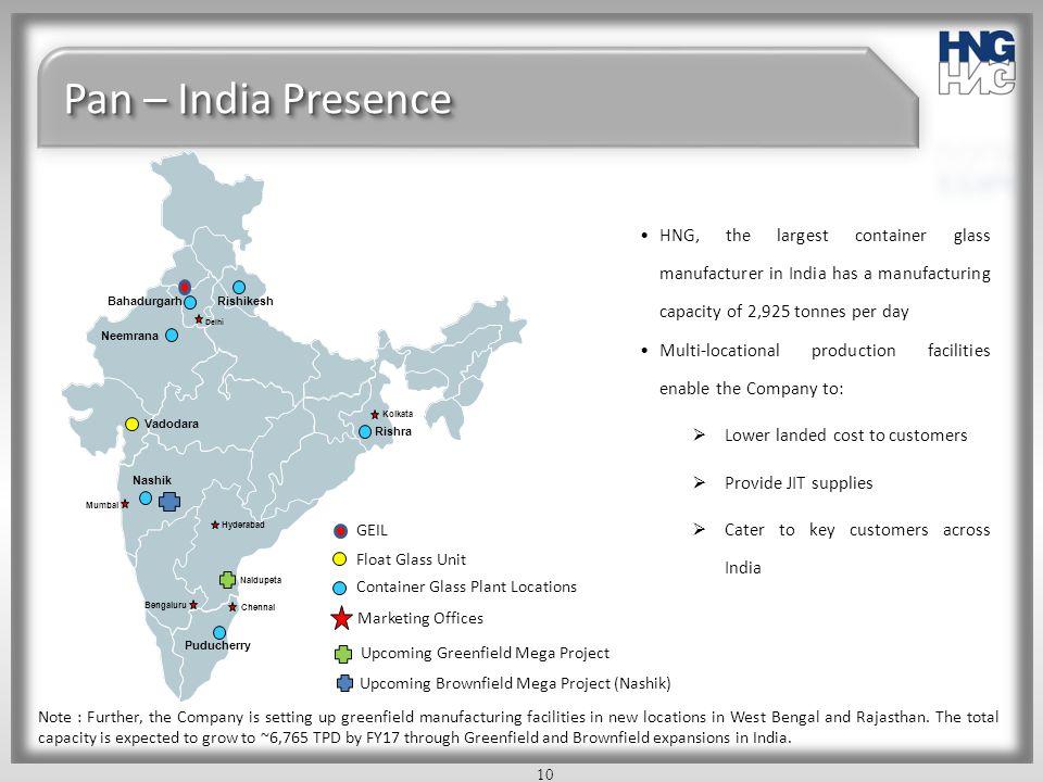 Pan – India Presence Rishikesh. Bahadurgarh. Chennai. Delhi. Neemrana. Vadodara. Kolkata. Puducherry.
