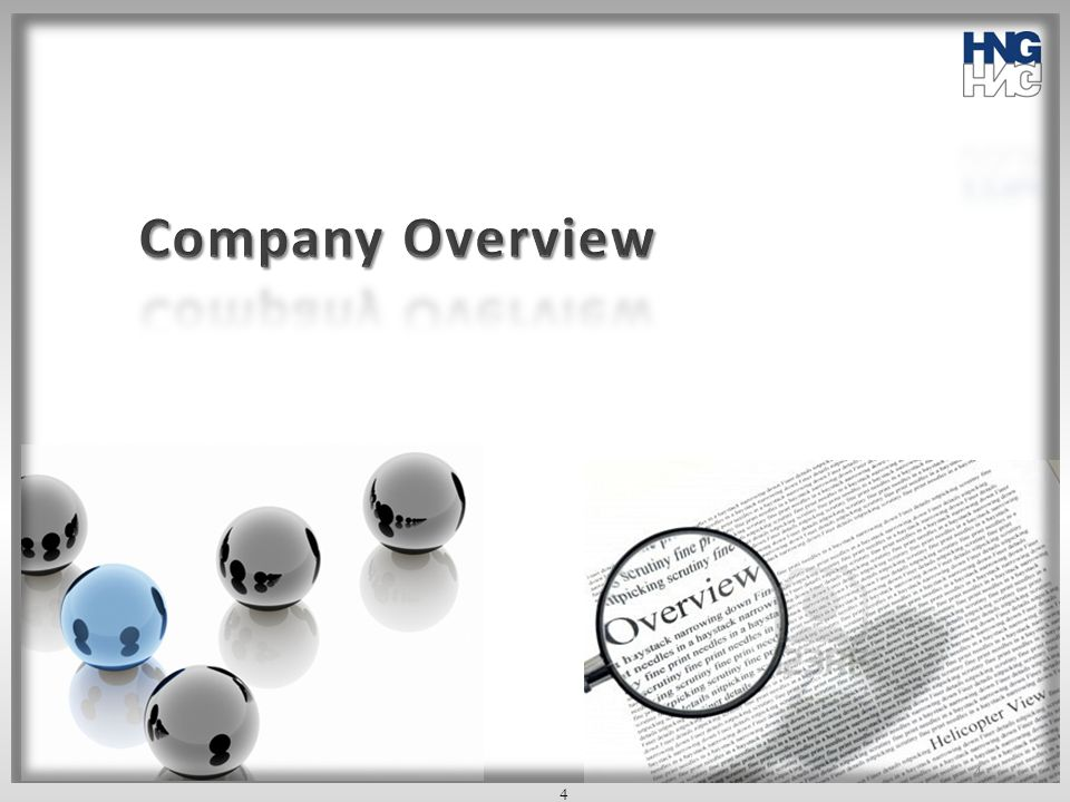 Company Overview 4 4