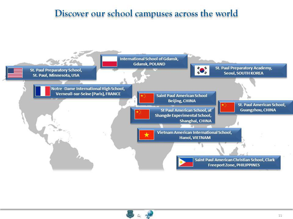 Discover our school campuses across the world
