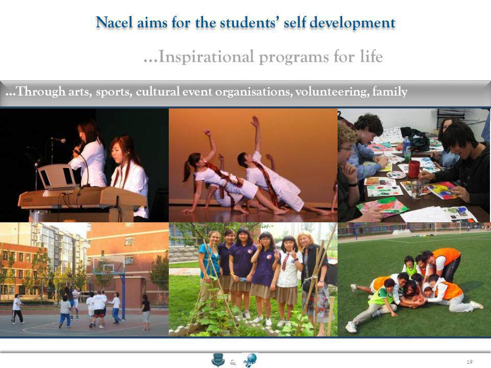 Nacel aims for the students' self development