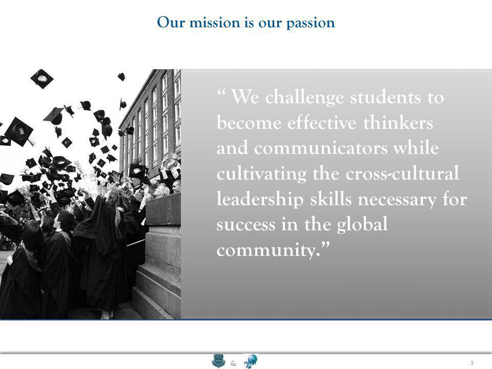 Our mission is our passion