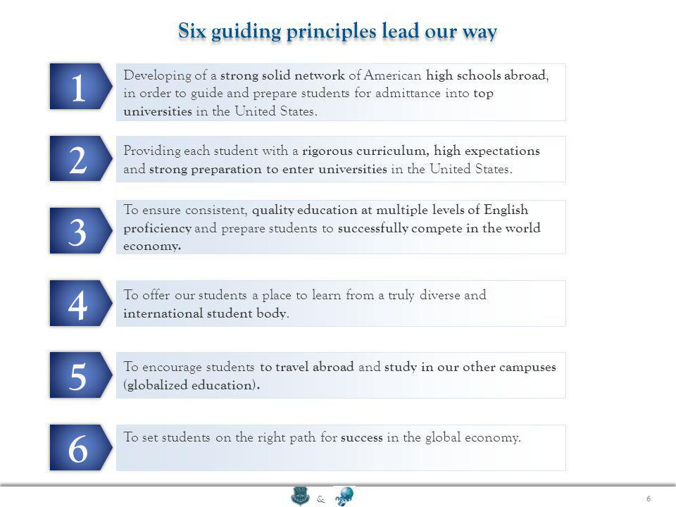 Six guiding principles lead our way
