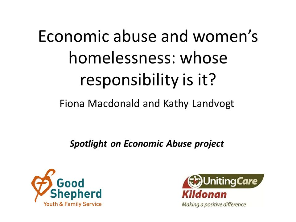 Economic abuse and women's homelessness: whose responsibility is it