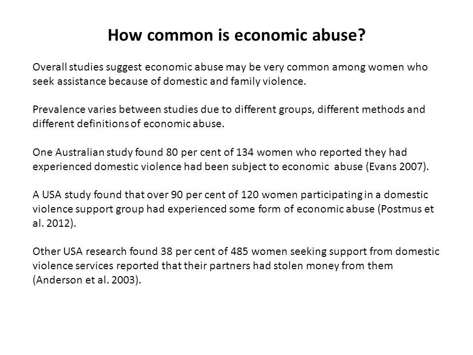 How common is economic abuse