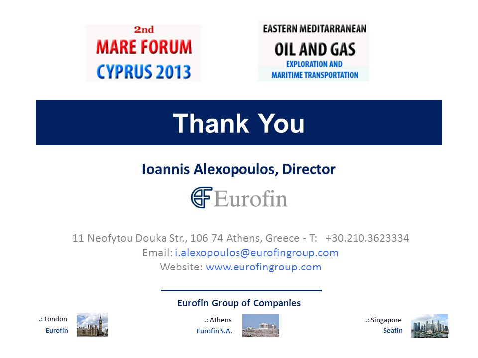 Ioannis Alexopoulos, Director Eurofin Group of Companies