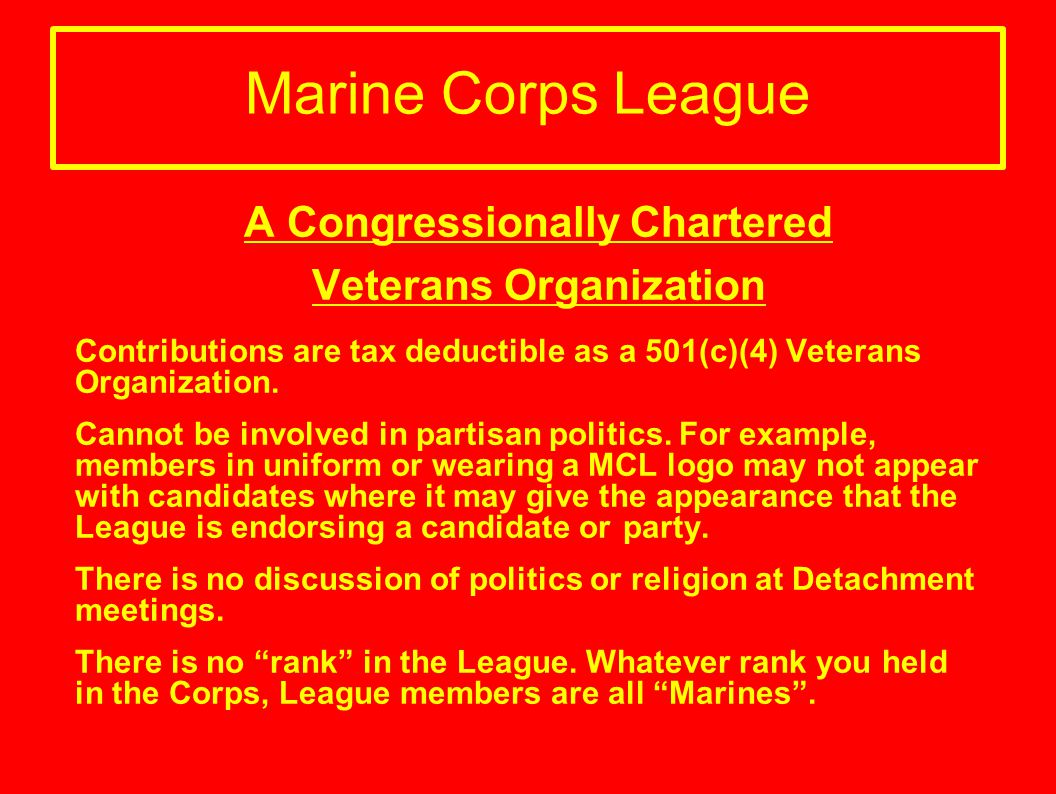 A Congressionally Chartered Veterans Organization