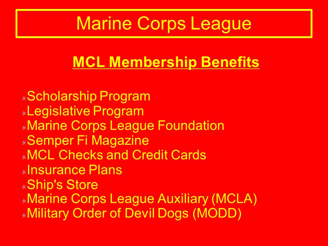 Marine Corps League Recruiting Tool - ppt download
