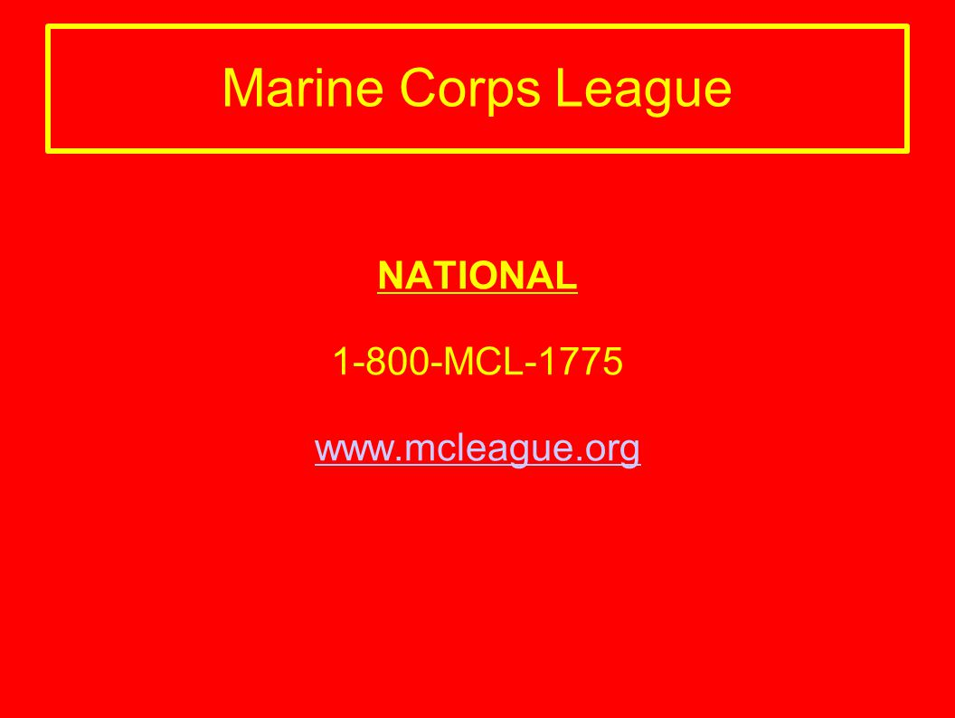 NATIONAL 1-800-MCL-1775 www.mcleague.org