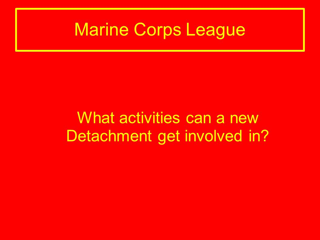 What activities can a new Detachment get involved in