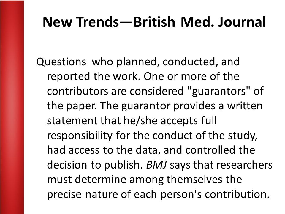 New Trends—British Med. Journal