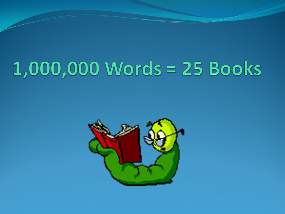 1,000,000 Words = 25 Books