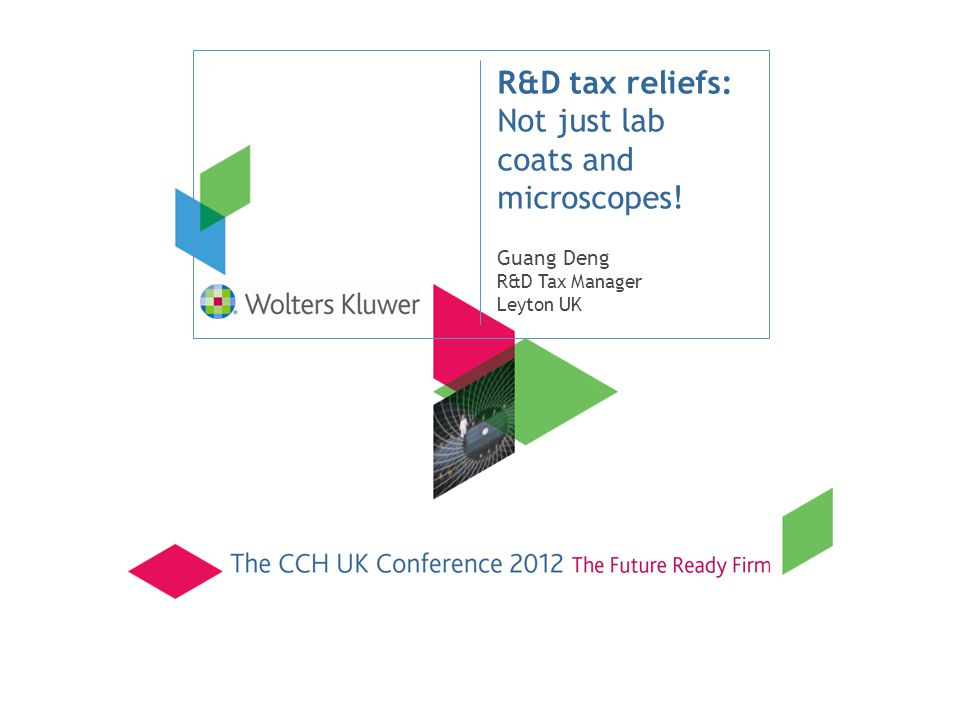 R&D tax reliefs: Not just lab coats and microscopes!
