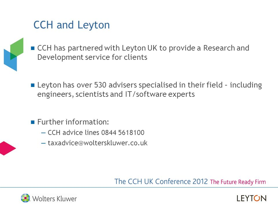 CCH and Leyton CCH has partnered with Leyton UK to provide a Research and Development service for clients.