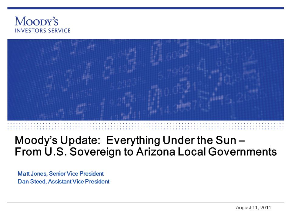 Moody's Update: Everything Under the Sun – From U. S
