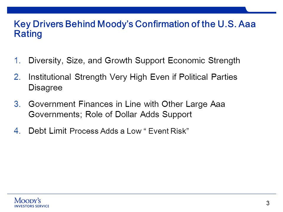 Key Drivers Behind Moody's Confirmation of the U.S. Aaa Rating