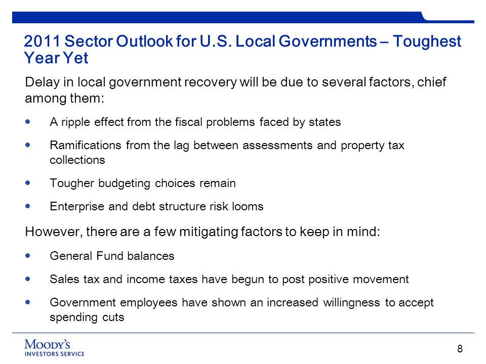 2011 Sector Outlook for U.S. Local Governments – Toughest Year Yet
