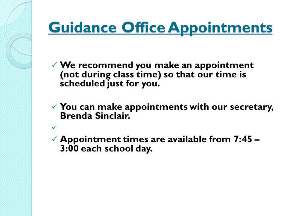 Guidance Office Appointments