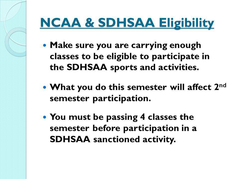 NCAA & SDHSAA Eligibility