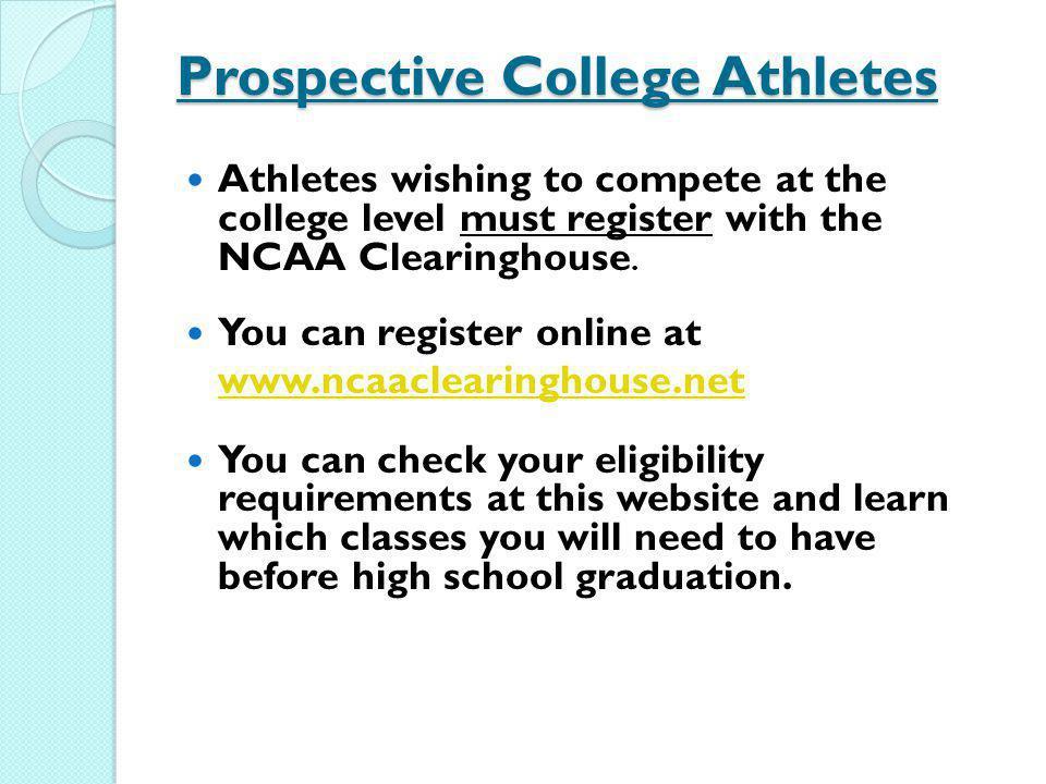Prospective College Athletes