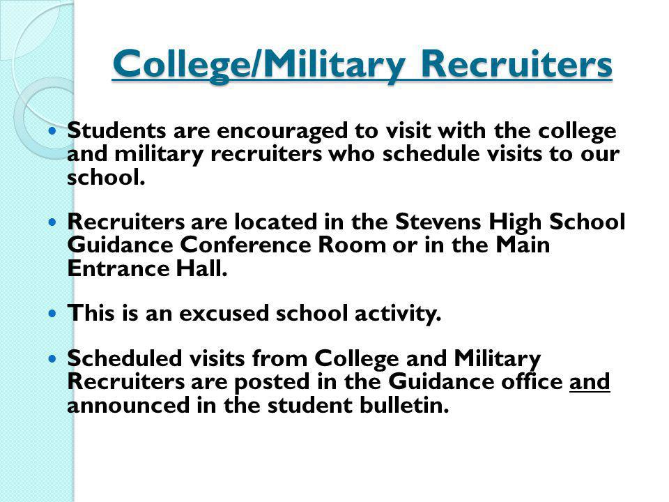 College/Military Recruiters