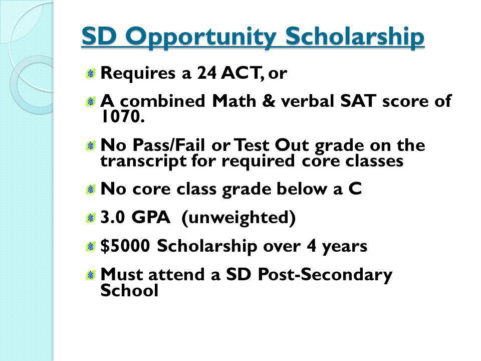 SD Opportunity Scholarship