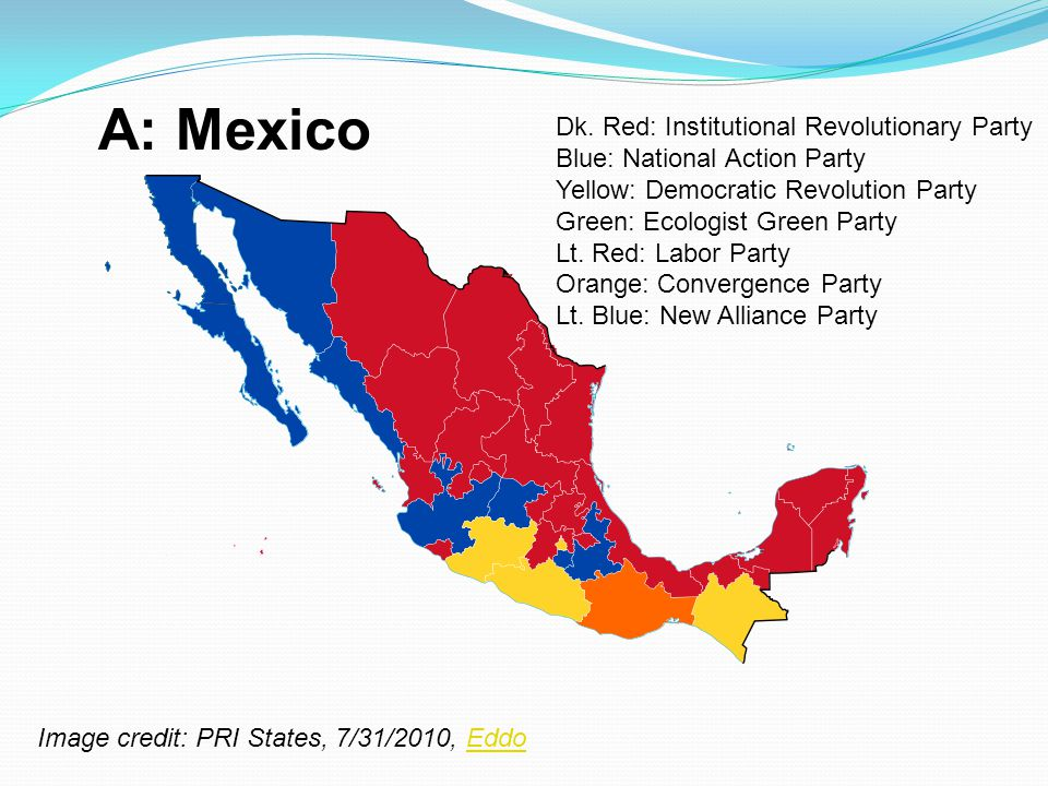 A: Mexico Dk. Red: Institutional Revolutionary Party