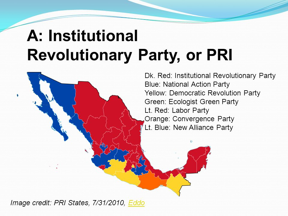 A: Institutional Revolutionary Party, or PRI