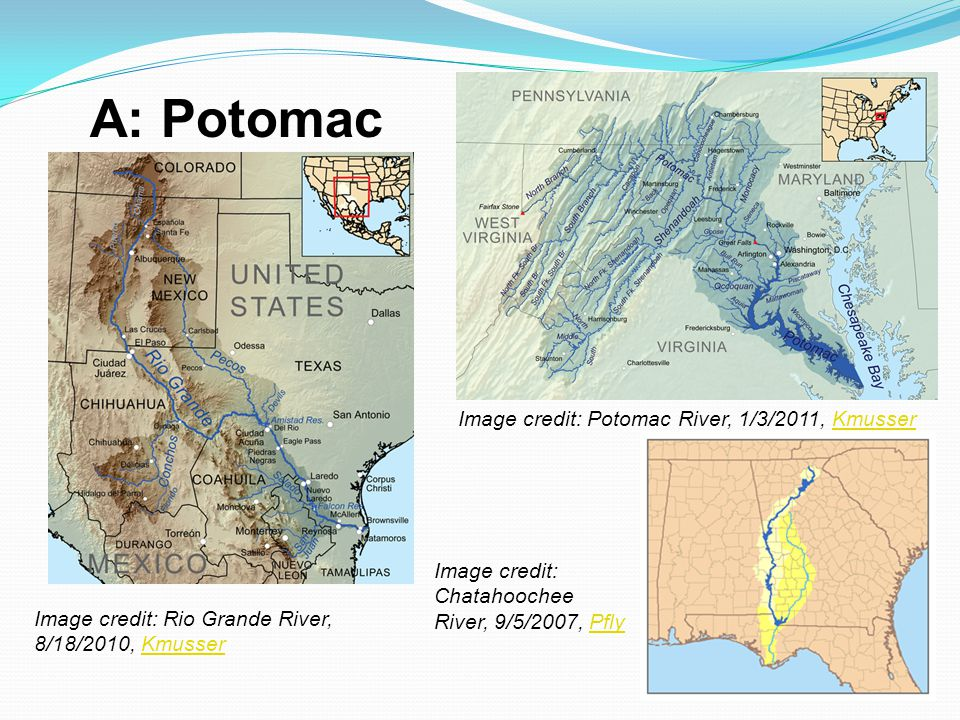 A: Potomac Image credit: Potomac River, 1/3/2011, Kmusser